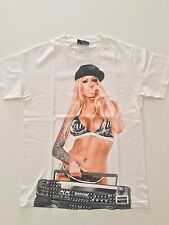 FAMOUS STARS AND STRAPS T-shirt GHETTO BLASTER DJ MEGAN DANIELS