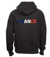 Sweat shirt noir à capuche homme zippé fruit of the loom FRANCE