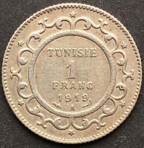 TUNESIEN, 1 FRANC 1919 A, SILBER