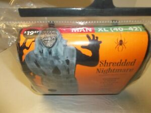 Halloween Zombie Shredded Nightmare Costume Men's XL (40-42) Stage Mummy Dead