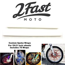 2FastMoto Spoke Wrap Kit White BMX Bicycle Spoked Wheels Rims Haro Huffy Hoffman