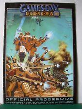 Warhammer 40k Fantasía gamesday 2001 programa Rare fuera de imprenta