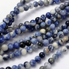 Natural Grade AB Sodalite 6mm Loose Beads Round