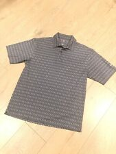Nwot Nike Golf Charcoal Design Short Sleeve Polo Sz Med 1/4 Button Stretch