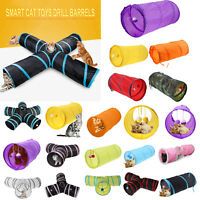 Foldable 5 Hole Pet Cat Tunnel Toys Pet Kitten Rabbit Outdoor Training Play Tube