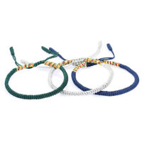 Tibetan Buddhist Knots Lucky Rope Bracelet Handmade Buddhism Jewelry Adjustable