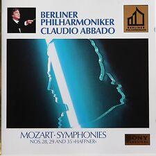 MOZART - SYMPHONIES 28, 29 & 35 - Sony Gold Disc - Claudio Abbado / Berlin Phil