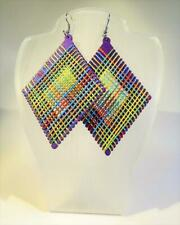 CG5662...LARGE EARRINGS - MULTI-COLOUR THREAD DESIGN - FREE UK P&P