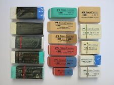 16 Vintage Faber-Castell Erasers - All Different - Unused, New Old Stock