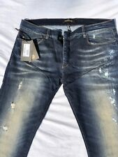 "Roberto Cavalli 34"" waist mens jeans blue new with tags (CVMG240Q)"
