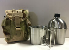 G.A.K. New Military Style 1 qt. Stainless Steel Canteen with Cup