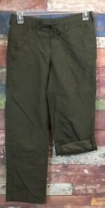 The North Face Women's Green Horizon II Hiking Camping Roll-Up Pants Size 6 *