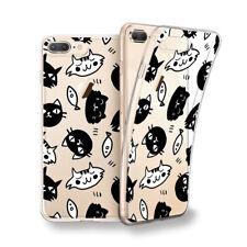 Funda gel dibujo Gatos negros y blancos para Xiaomi Redmi 5 / 5 plus / S2
