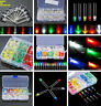 3/5mm Red/Green/Blue/Yellow/White LED Light Emitting Diodes Assortment Kit