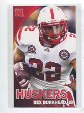 2012 Nebraska Cornhuskers Football Pocket Schedule NBA card Rex Burkhead
