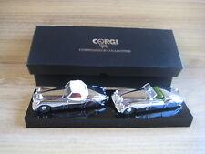 CORGI CONNOISSEUR COLLECTION   JAGUAR XK120  TWIN SET  CHROME PLATED