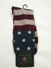 Robert Talbott Dress Socks,stars and stripes, red white & blue,4th of July,10-13