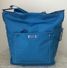 NWT TUMI venice hobo nylon leather pool blue 0481742POL purse bag satchel $245