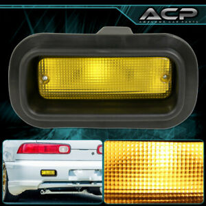 For 1988-2000 Honda Civic Rear Yellow Exterior Bumper Fog Lights Lamps Assembly