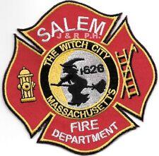 """Salem - 1626, MASS  """"The Witch City""""  (4"""" x 4"""" size)  fire patch"""