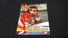 Racing Pro Set Card #92 signed by Scott Geoffrion
