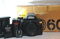 Nikon D D60 10.2 MP Digital SLR Camera WORKING 15445 clicks 16GB SD card NICE