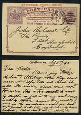 More details for victoria stationery upu re-rated melbourne to fleet winchfield hampshire 1895