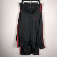 Nike Men's Track Basketball Pants & Jacket Activewear Black And Red Striped. B72