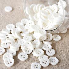 lot 20 bouton blanc rond 4 trou 10 mm couture scrapbooking création art créatif