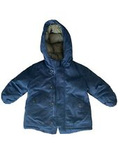 Zara Kids Boys Hoodie Parka Winter Down Jacket Size 12/18 Months Blue