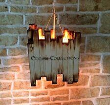 Modern Handmade Wood Pandent Atomic Sputnik Chandelier Light Fixture Comptemp
