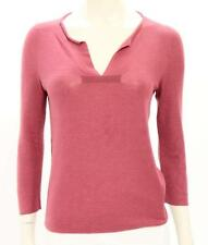 Jil Sander Rose Cashmere Split Neck Sweater Size IT 40 US 4