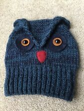 River Island, Beanie Owl Hat. Adult Size.