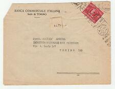STORIA POSTALE 1948 REPUBBLICA REC. AUTORIZZATO L.8 TORINO 31/7 Z/1312