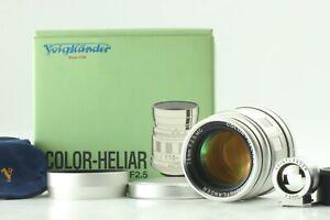 【UNUSED w/View Finder】 Voigtlander Color Heliar 75mm F2.5 MC Leica L39 Japan 557