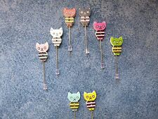 Cute Cat Stitch Counting Pins With Stoppers Set Of SIX Cross Stitch