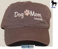 dae9e12026e Dog Mom Embroidered Baseball Hat LoveWally Pet Lover Cap Adjustable Brown