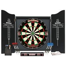 Winmau Professional Darts Set - Diamond Wire Bristle Dartboard & Cabinet