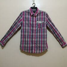 C445 - Armani Jeans Plaid Casual Button Down Shirt