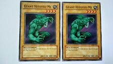 2 Cartes Yu Gi Oh Géant Hitotsu-Me MDM-F107