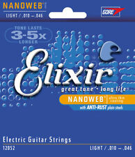 Elixir 12052 nanoweb Electric Guitar strings 10 - 46