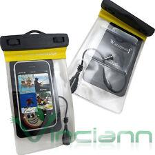Custodia impermeabile armband+cuffie per Nokia Lumia 535 audio mare spiaggia CI5