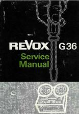 REVOX G36 SERVICE MANUAL ON CD-R