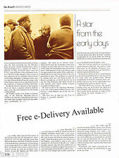 old RENE De KNYFF Racing History Article / Picture / Photo