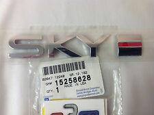 2007-2010 Saturn Sky Rear Deck Lid Chrome SKY Red Line Emblem new OEM 15258628