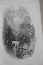 Antique Book Pilgrim's Progress Bunyan Engravings Leather JMW Turner frontspiece