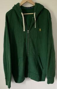 "Mens BIG XL 2XL RALPH LAUREN Fashion Zip Hoody Jacket Casual Vintage Retro 52"""