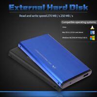 "Portable HDD Ultra Slim 2.5"" External 500G Hard Disk Drive USB 3.0 Data Transfer"