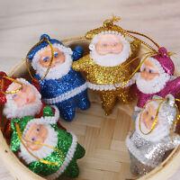6pcs Santa Claus Ornaments Christmas Tree Hanging Xmas Decoration Toys Gift Set