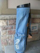 Ping Carry Sky Light Blue Golf Bag Lightweight Sunday Carry Karsten Vintage Vtg